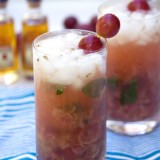 Roasted Grape Bourbon Smash