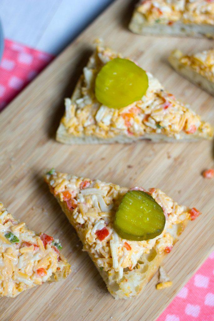 Roasted Jalapeño Pimento Cheese Toast -- A classic appetizer made even better   wearenotmartha.com