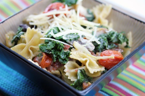 Roasted Vegetable Pasta with Creamy Lemon Sauce