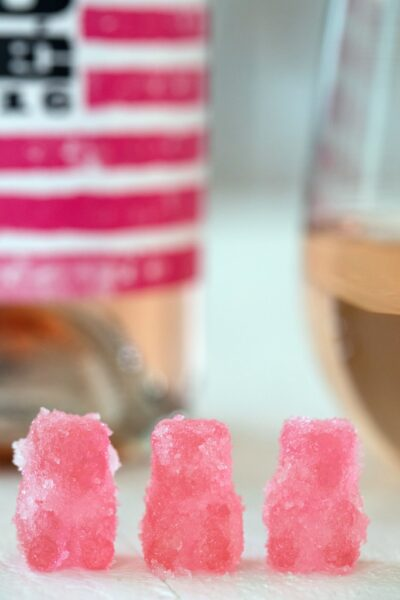 Homemade Rosé Sour Patch Kids -- The homemade wine gummy bears are made sour with a sugar and citric acid coating | wearenotmartha.com