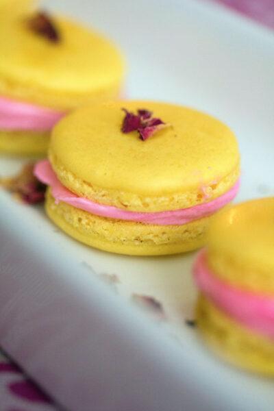 Rose Lemonade Macarons