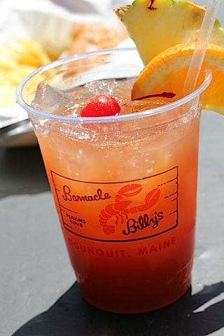 Rum punch from Barnacle Billy's in Ogunquit, Maine