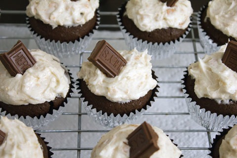 S'Mores Vodka Cupcakes Frosted with Choco.jpg