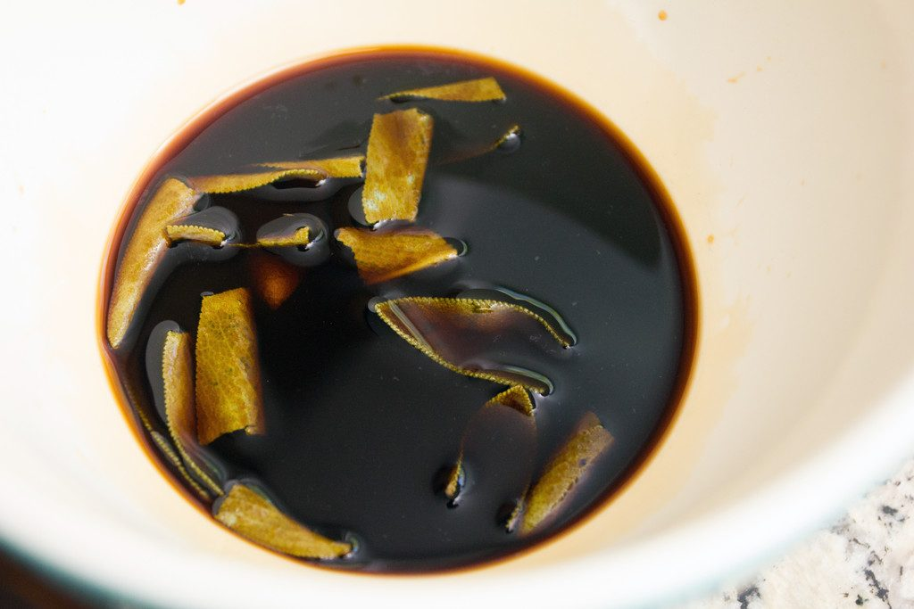 Sage-Infused Soy Sauce | wearenotmartha.com