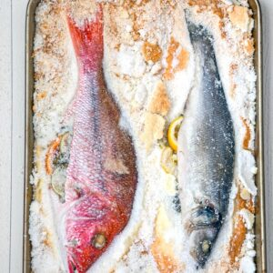 Salt Baked Fish -- You might be surprised to learn how easy it is to make salt baked fish... And the results are an incredibly moist and well-seasoned fish with a gorgeous presentation | wearenotmartha.com