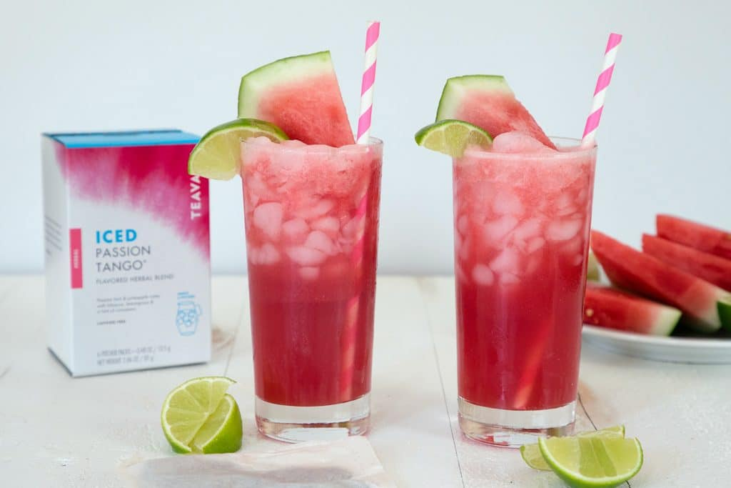 Shaken Watermelon and Passion Tea -- This Starbucks iced tea is only sold in Japan, but you can enjoy it with this Starbucks copycat recipe! | wearenotmartha.com