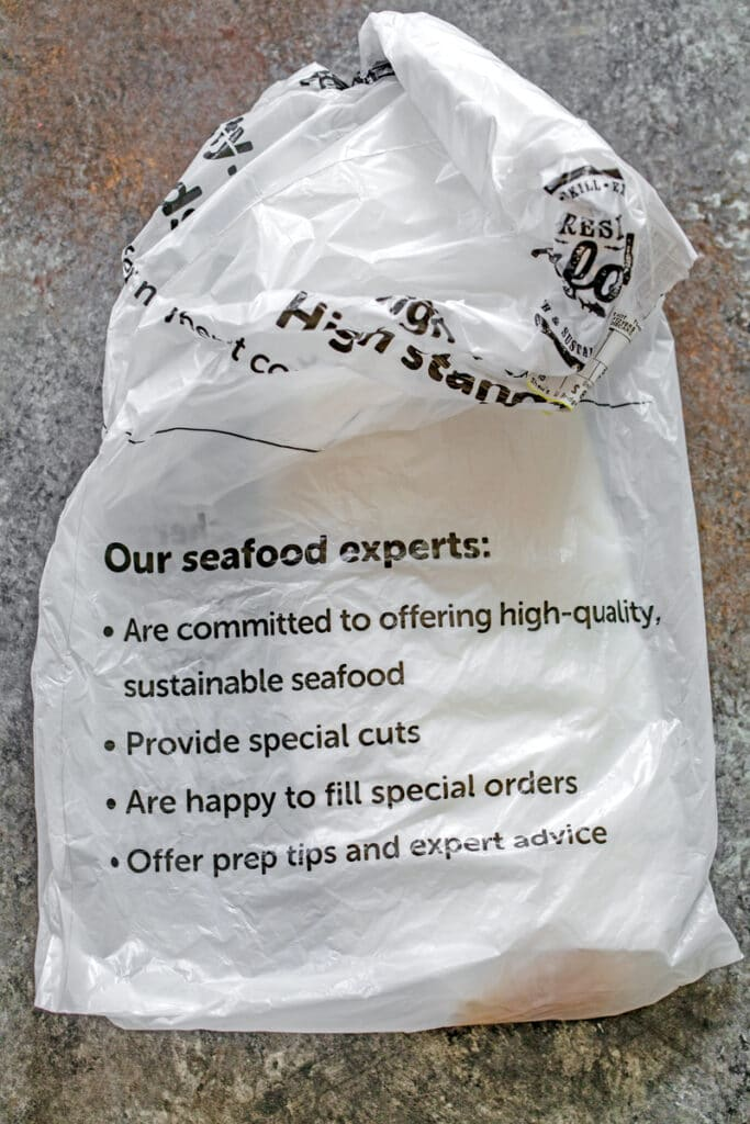 Shaw's Supermarket bag from fish counter