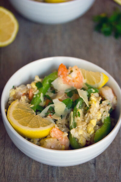 Shrimp Scampi Fried Rice