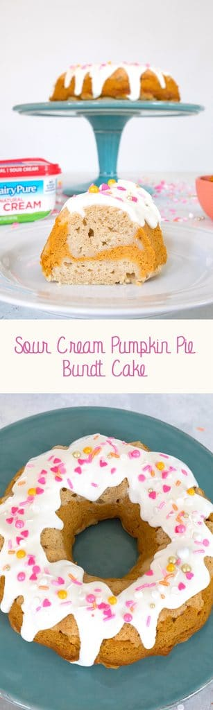 Sour Cream Pumpkin Pie Bundt Cake -- For when you can't decide between cake or pie | wearenotmartha.com