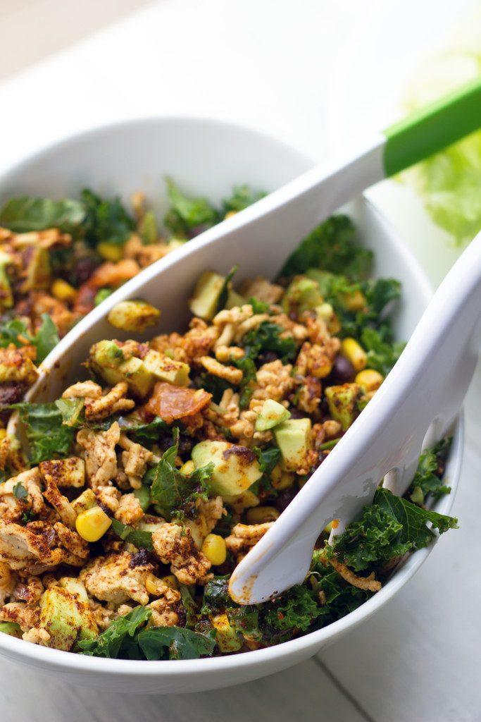 Southwestern Lettuce Wraps --Ground turkey, avocado, kale, black beans, and corn make for a healthy lettuce wrap | wearenotmartha.com