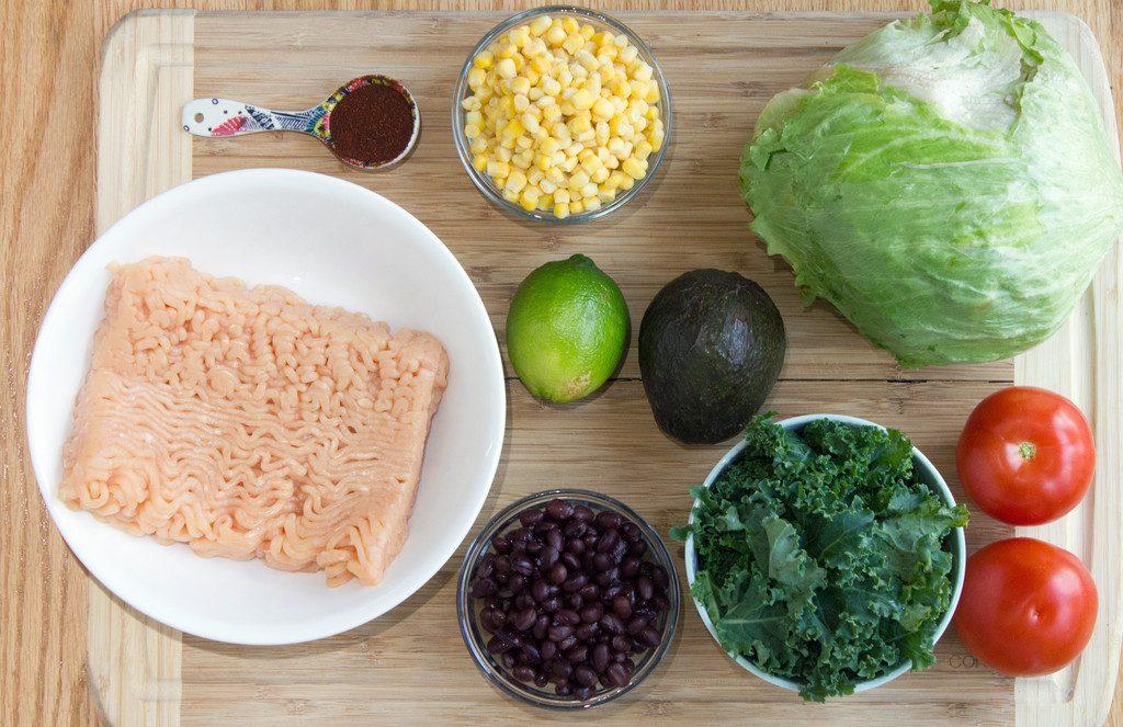 Southwestern Lettuce Wraps Ingredients | wearenotmartha.com