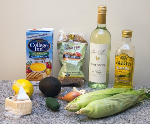 Spicy Avocado and Corn Bulgur Risotto Ingredients.jpg