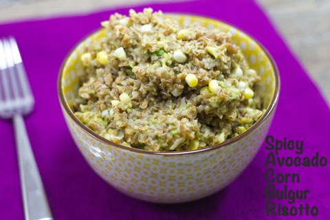 Spicy Avocado and Corn Bulgur Risotto.psd