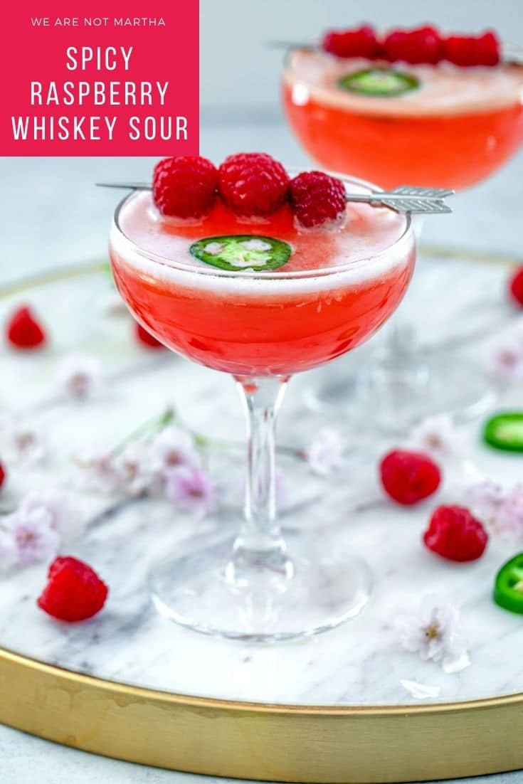 Spicy Raspberry Whiskey Sour