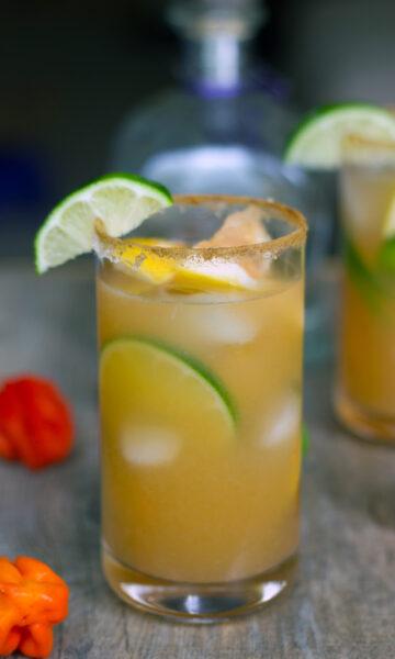 Spicy Roasted Grapefruit Margarita 6