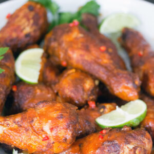 Spicy Thai Drumsticks -- Whether you're looking for a meal or a party appetizer, these Spicy Thai Chicken Drumsticks will satisfy your craving. A little bit of spice and a little bit of citrus helps balance out these drumsticks, making them a surefire crowd pleaser | wearenotmartha.com