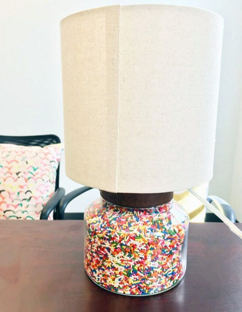 Sprinkles Filled Lamp | wearenotmartha.com