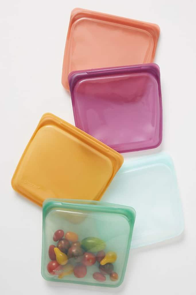 Pretty colored Stasher bags