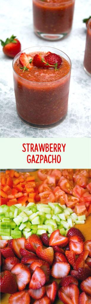Strawberry Gazpacho -- A summer soup that won't keep you hostage in the hot kitchen | wearenotmartha.com