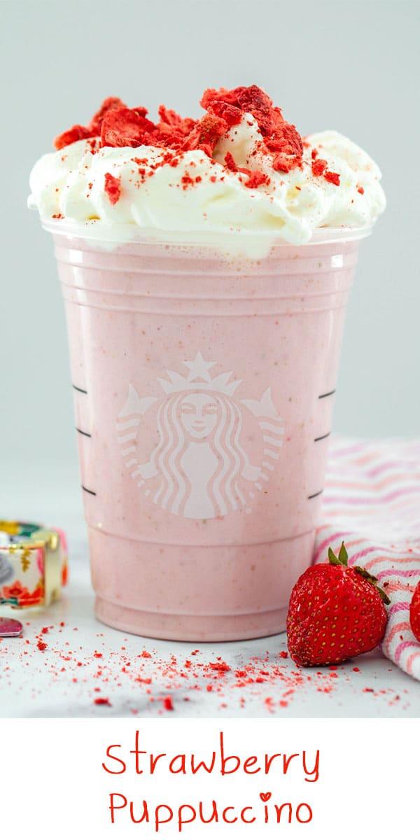 Strawberry Puppuccino