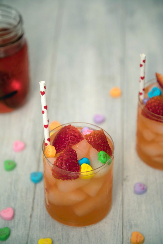 Strawberry Vanilla Love Potion Cocktail -- This vodka-based cocktail is perfect for sharing with your sweetie on Valentine's Day, but can be enjoyed any time of the year! | wearenotmartha.com