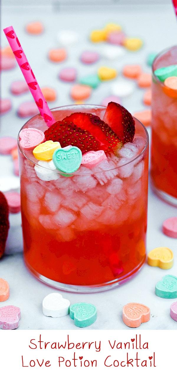 Strawberry Vanilla Love Potion Cocktail