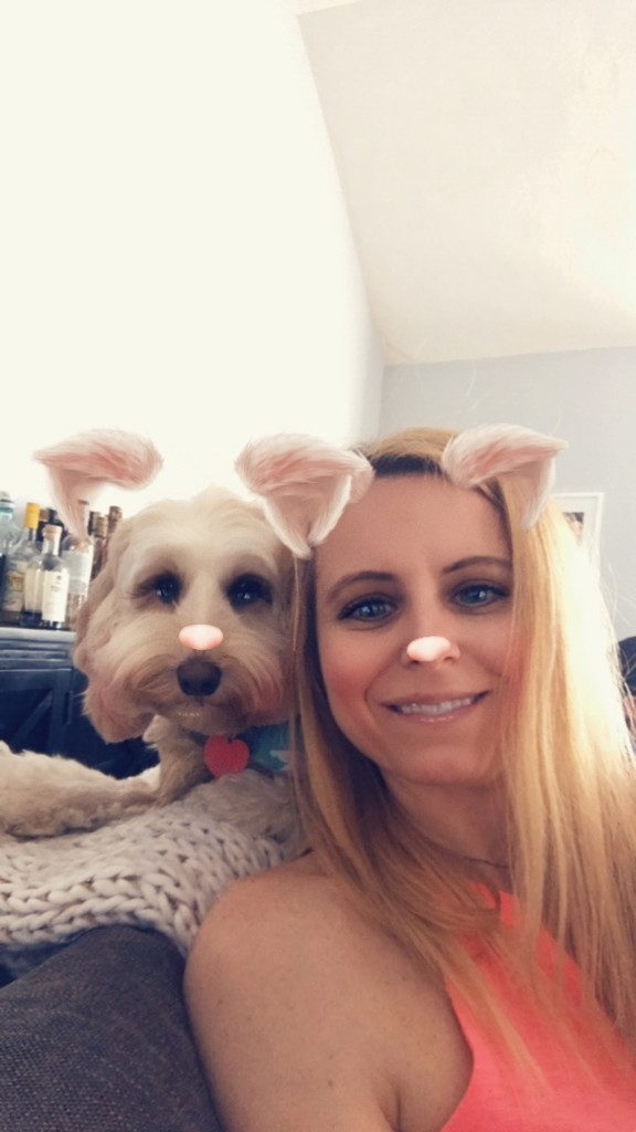 Sues and Winnie Labradoodle Snapchat | wearenotmartha.com