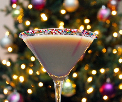 Sugar Cookie Martini -- A sweet and festive holiday cocktail | wearenotmartha.com