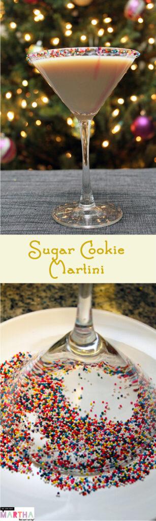 Sugar Cookie Martini -- A sweet and festive holiday cocktail | wearenotmartha.com