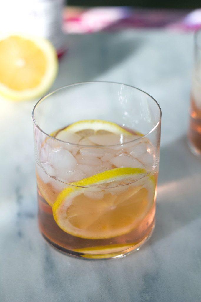 Summer Rosé Spritzer -- A summer cocktail made with fresh lemons and elderflower liqueur | wearenotmartha.com