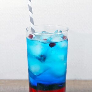 Super Bowl Sipper -- This is the ultimate Super Bowl cocktail, especially appropriate when the Patriots are in the Big Game. OK, or any other team whose colors are blue and red. It also makes a pretty fabulous 4th of July cocktail | wearenotmartha.com