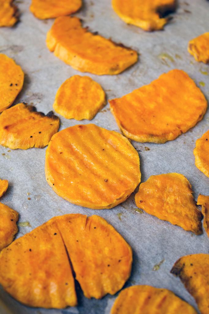 Sweet Potato Chips Baked