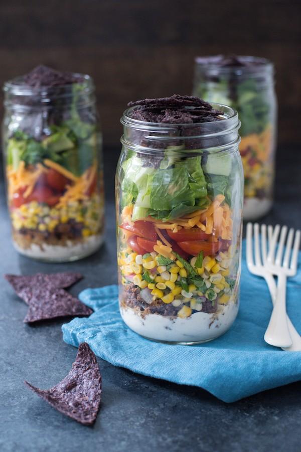 Taco-Salad-Jars-with-Green-Chile-Yogurt-Dressing-3-600x899