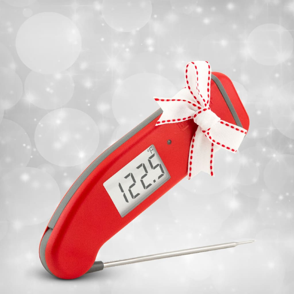 red Thermapen digital instant read thermometer