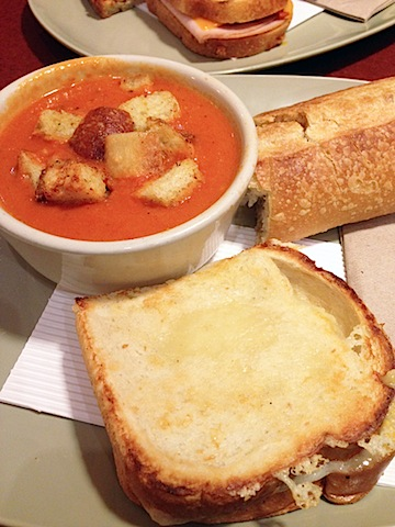 ... tomato soup and grilled cheese is a meal most people just don't grow