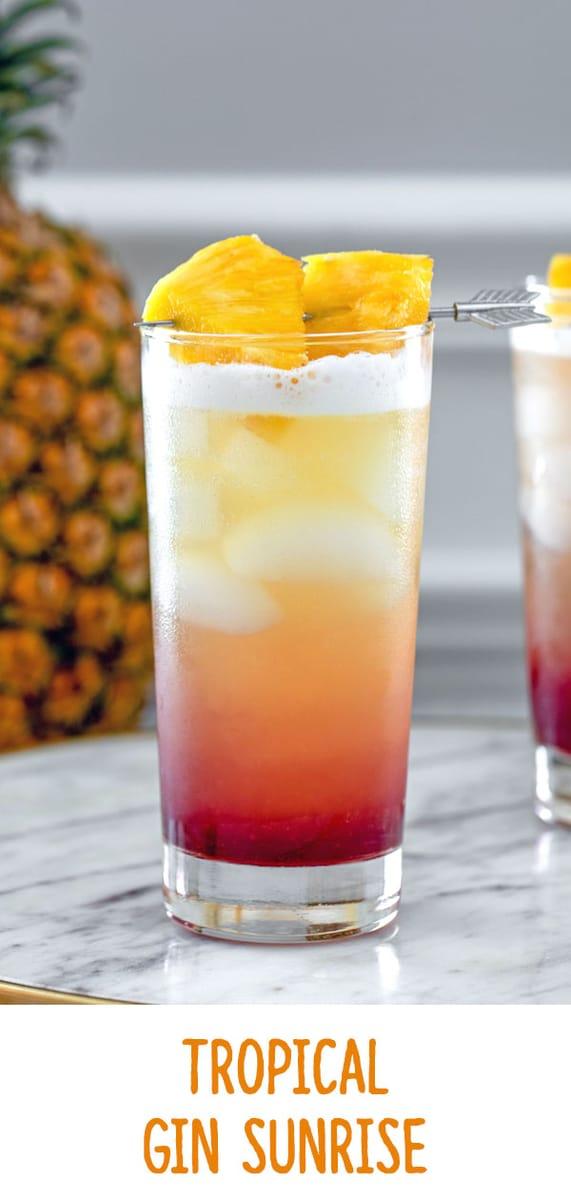 Tropical Gin Sunrise