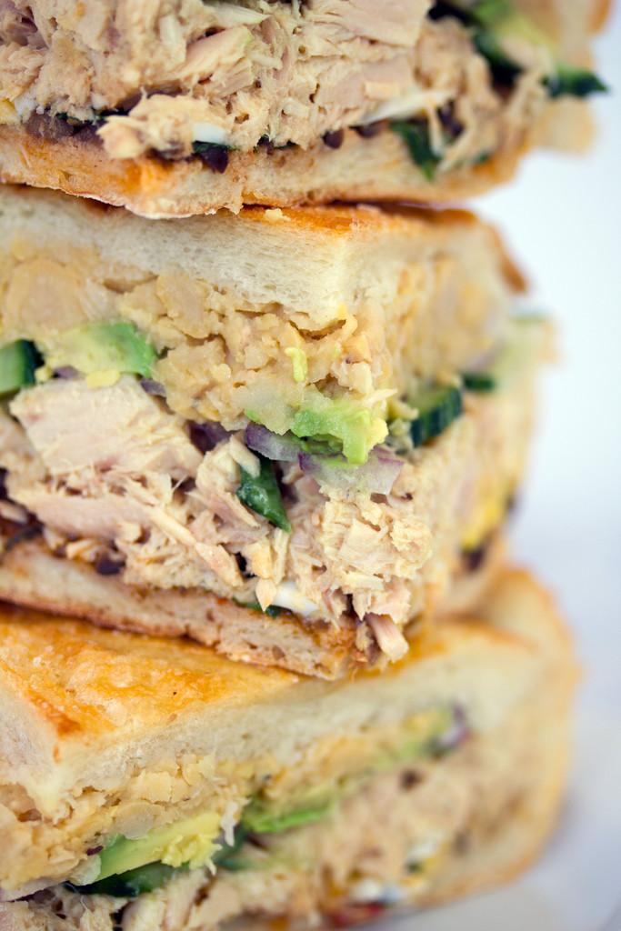 Tuna Nicoise Sandwich -- The layered sandwich includes tuna, eggs ...