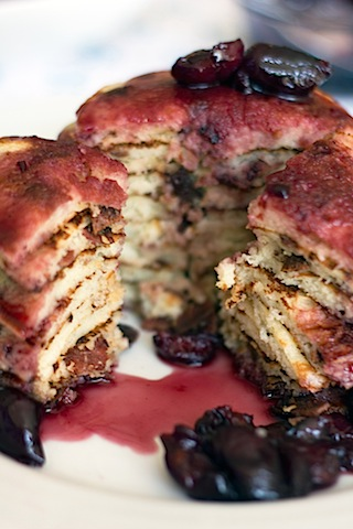 Turkey Bacon Pancakes with Roasted Cherry Maple Syrup 8.jpg