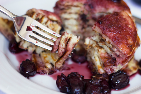 Turkey Bacon Pancakes with Roasted Cherry Maple Syrup 9.jpg