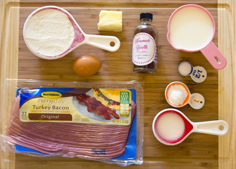 Turkey Bacon Pancakes with Roasted Cherry Maple Syrup Ingredients.jpg