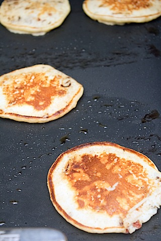 Turkey Bacon Pancakes with Roasted Cherry Maple Syrup Pancakes cooked.jpg