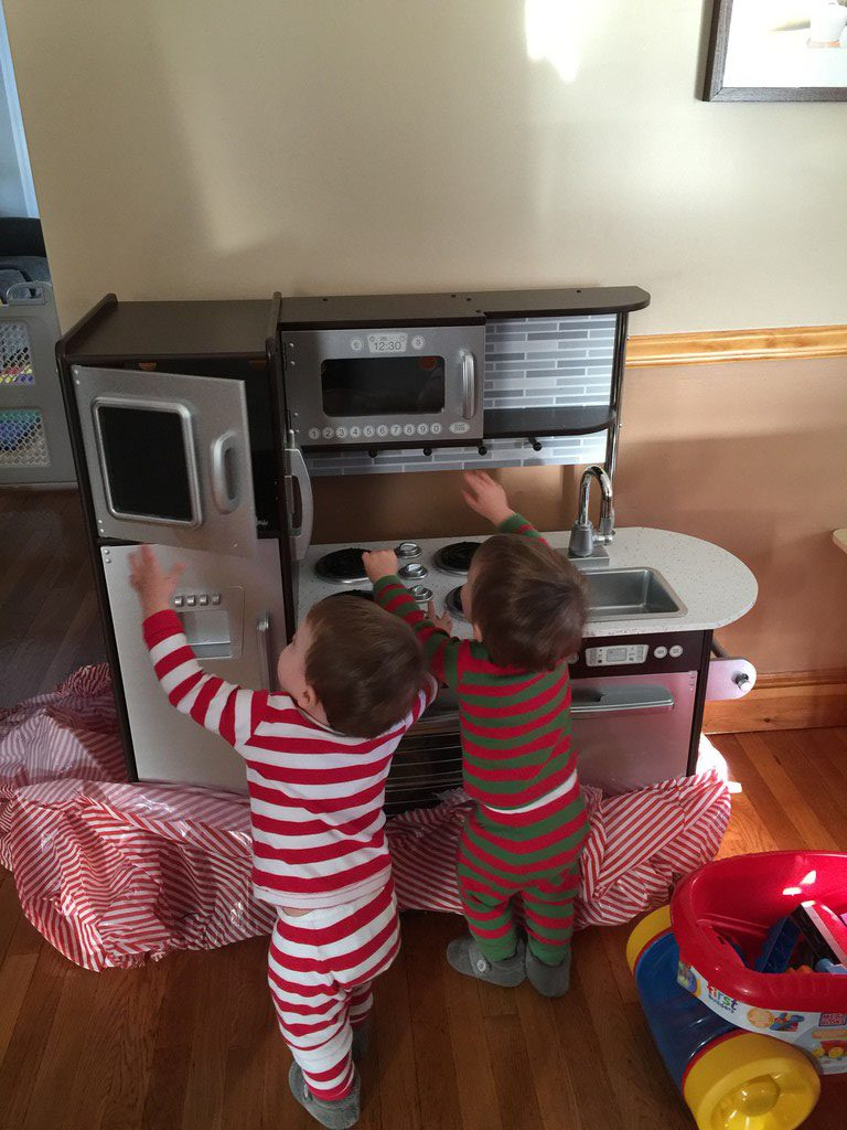 Christmas Morning with the Twins