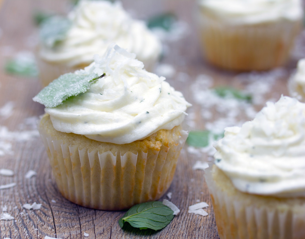 Vanilla Coconut Chocolate Mint Cupcakes 12