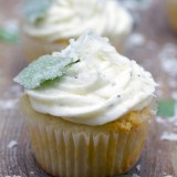 Coconut Cupcakes with Fresh Chocolate Mint Buttercream