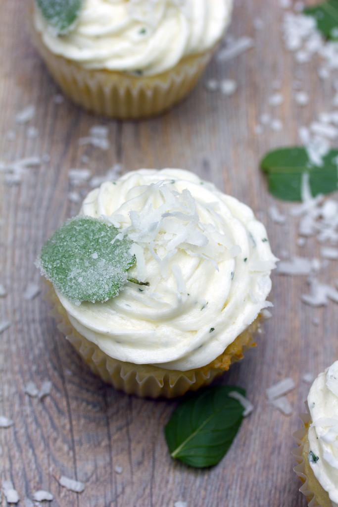 Vanilla Coconut Chocolate Mint Cupcakes 9