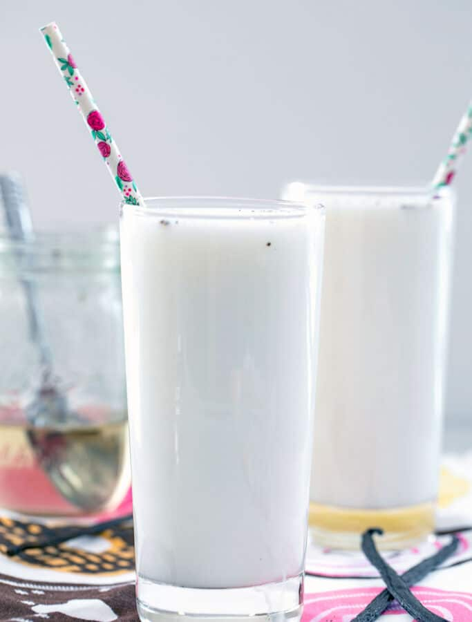 Vanilla Egg Cream -- Have you ever had a classic soda shop egg cream? Believe it or not, they don't involve eggs! This Vanilla Egg Cream recipe is super simple and packed with vanilla flavor | wearenotmartha.com