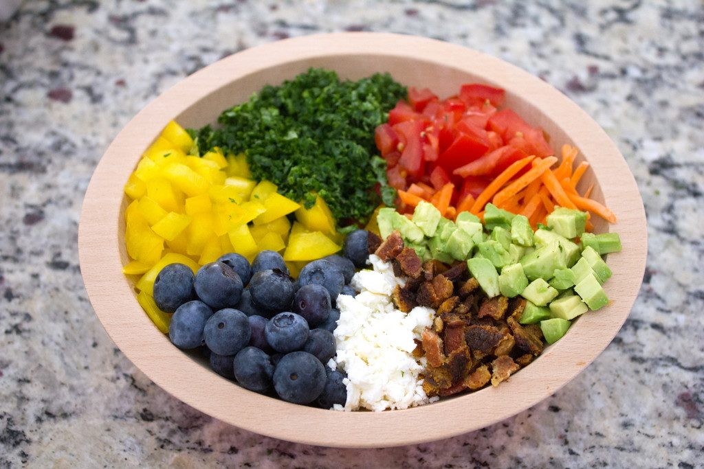 Veggie Breakfast Bowl -- A rainbow of vegetables | wearenotmartha.com