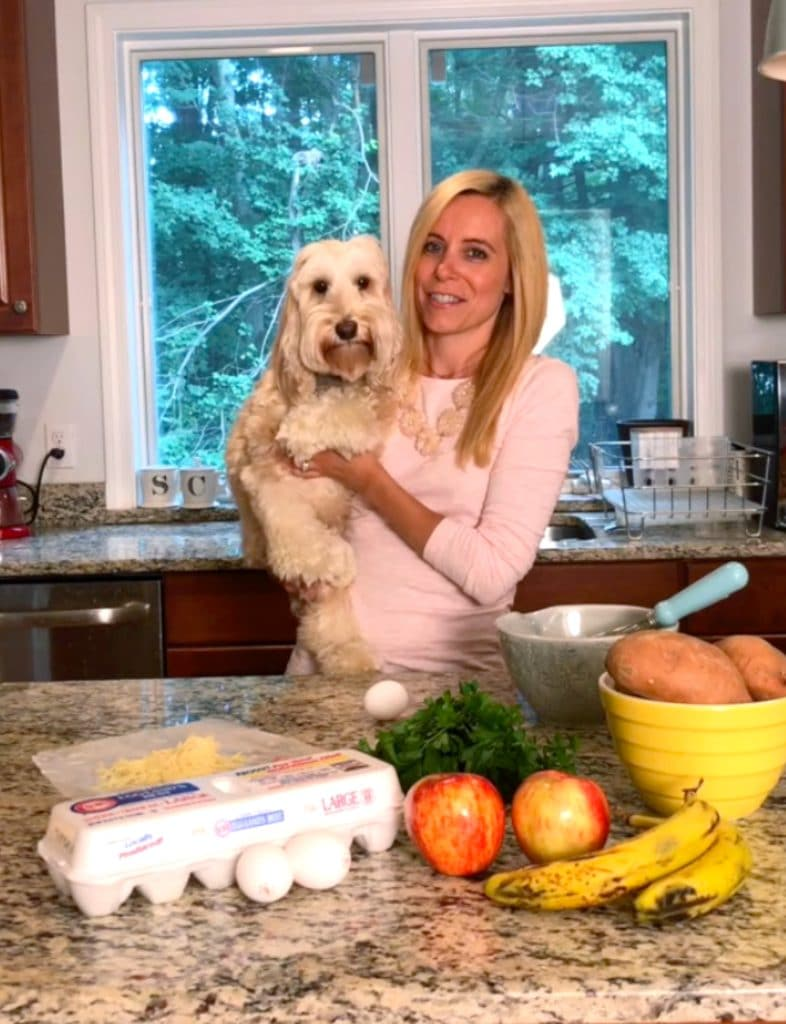 Winnie the Labradoodle Cooking with Sues | wearenotmartha.com