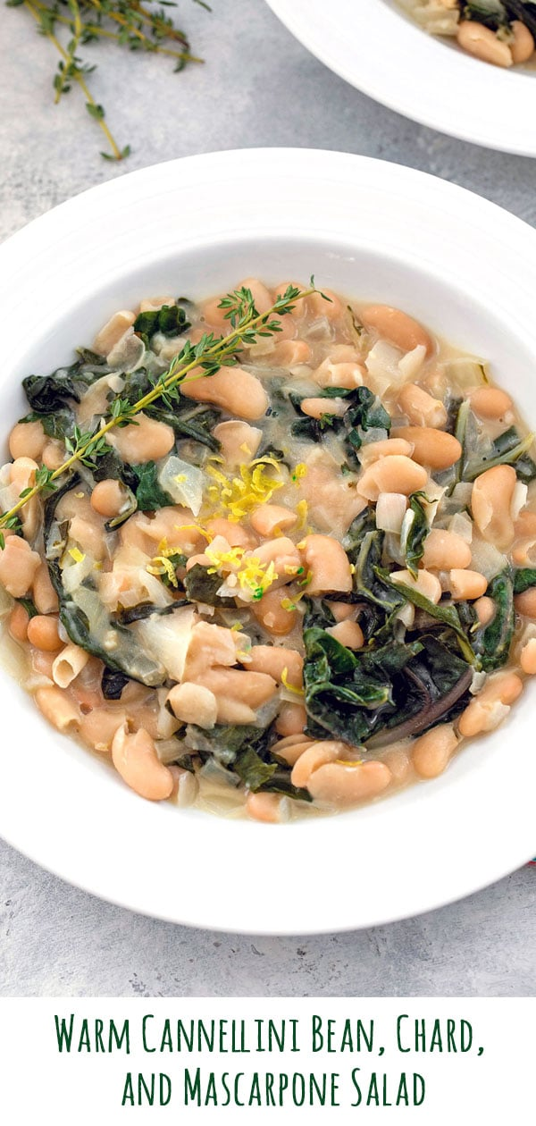 Warm Cannellini Bean Salad with Chard and Mascarpone