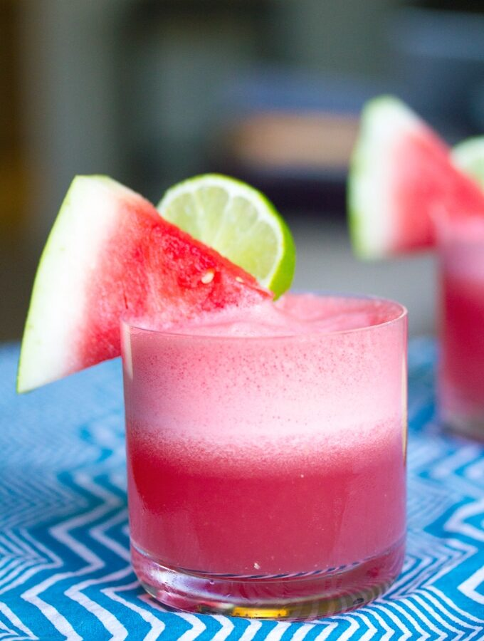 Watermelon Coconut Cocktail -- This watermelon cocktail offers lots of hydration (coconut water!) and some fun, too (rum!) for the perfect summer drink | wearenotmartha.com